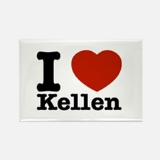 I Love Kellen Rectangle Magnet