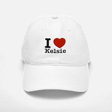 I Love Kelsie Baseball Baseball Cap