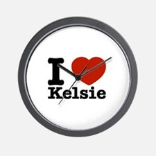 I Love Kelsie Wall Clock