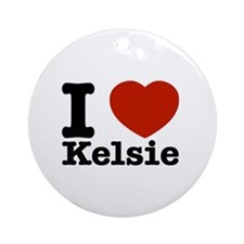 I Love Kelsie Ornament (Round)