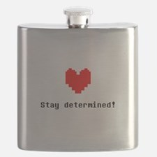 Stay Determined - Blk Flask