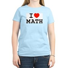 I Heart Math Women's Pink T-Shirt