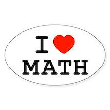 I Heart Math Oval Decal
