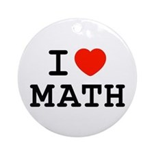 I Heart Math Ornament (Round)