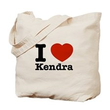 I Love Kendra Tote Bag