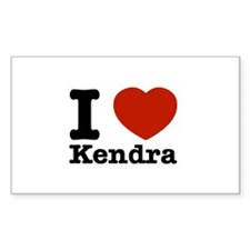 I Love Kendra Decal