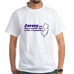 Jersey Sucking Dick White T-Shirt