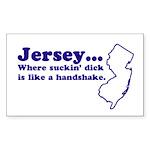 Jersey Sucking Dick Rectangle Sticker
