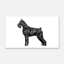 Giant Schnauzer Standing Profile Rectangle Car Mag