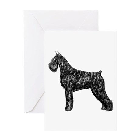 Giant Schnauzer Standing Profile Greeting Card