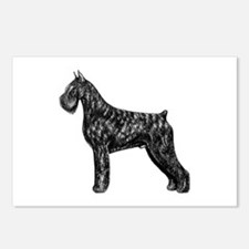 Giant Schnauzer Standing Profile Postcards (Packag