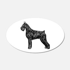 Giant Schnauzer Standing Profile Wall Decal