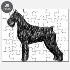 Giant Schnauzer Standing Profile Puzzle