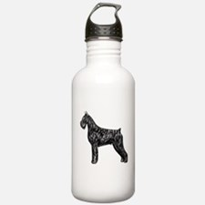 Giant Schnauzer Standing Profile Water Bottle