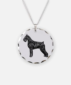 Giant Schnauzer Standing Profile Necklace