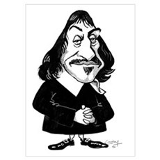 Rene Descartes, caricature Poster