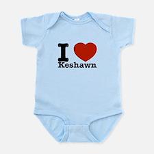 I Love Keshawn Infant Bodysuit