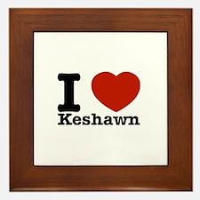 I Love Keshawn Framed Tile