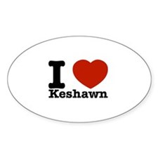 I Love Keshawn Decal