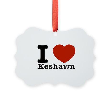 I Love Keshawn Picture Ornament