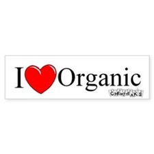I Love Organic Bumper Bumper Sticker