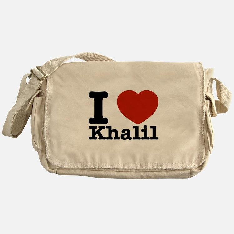 I Love Khalil Messenger Bag