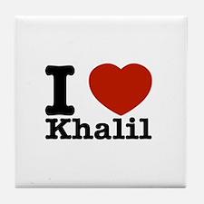 I Love Khalil Tile Coaster