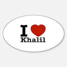 I Love Khalil Sticker (Oval)