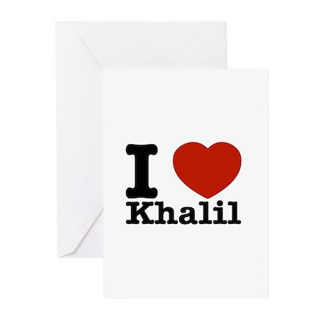 I Love Khalil Greeting Cards (Pk of 10)