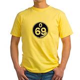 Bingo Mens Classic Yellow T-Shirts