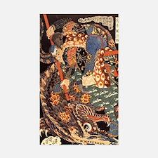 Miyamoto Musashi Fights Nue Rectangle Decal