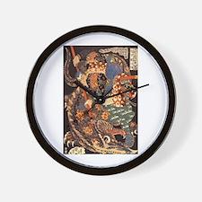 Miyamoto Musashi Fights Nue Wall Clock