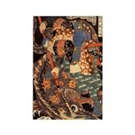 Miyamoto Musashi Fights Nue Rectangle Magnet (100