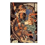 Miyamoto Musashi Fights Nue Postcards (Package of