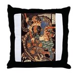 Miyamoto Musashi Fights Nue Throw Pillow