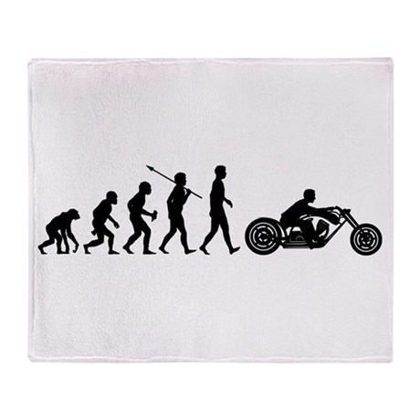 Motorcycle Rider Throw Blanket
