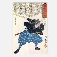 Miyamoto Musashi Two Swords Postcards (Package of