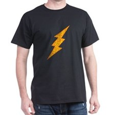 Fiery Lightning Jag Black T-Shirt