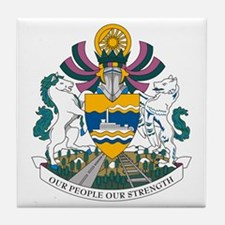 Whitehorse Coat of Arms Tile Coaster