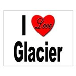 I Love Glacier Small Poster