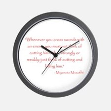 Miyamoto Musashi Quote Wall Clock