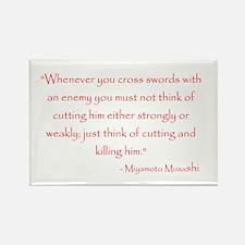 Miyamoto Musashi Quote Rectangle Magnet