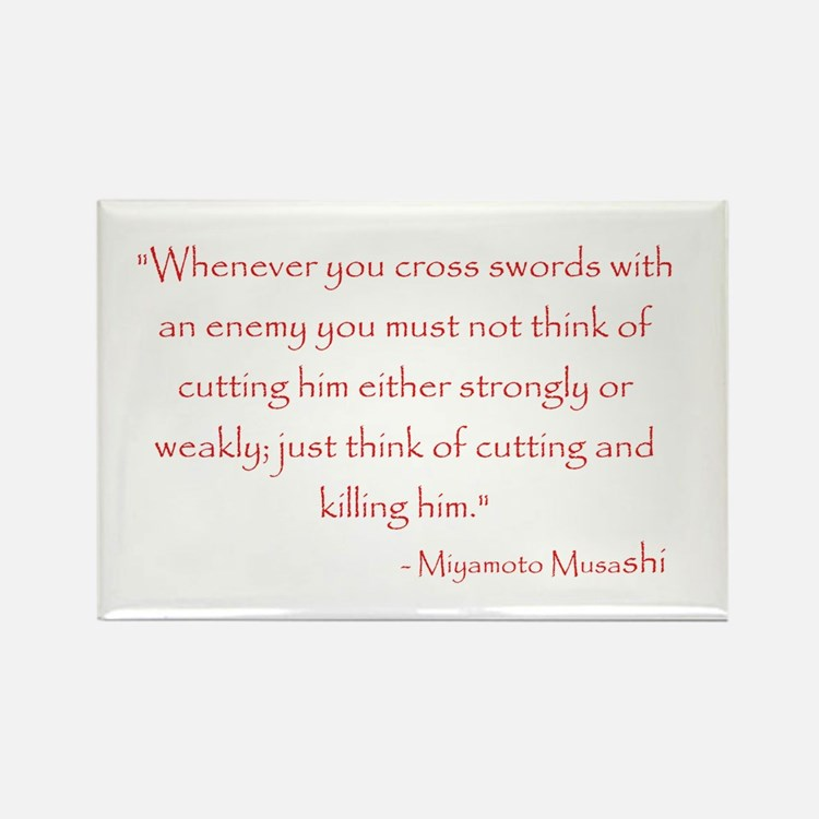 Miyamoto Musashi Quote Rectangle Magnet