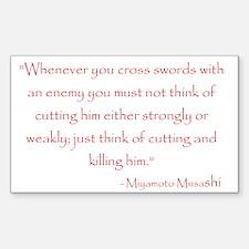 Miyamoto Musashi Quote Rectangle Decal