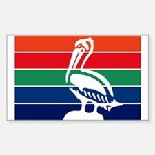 St. Petersburgh Flag Rectangle Decal