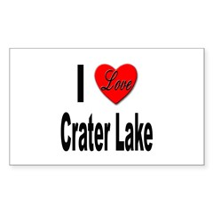 I Love Crater Lake Rectangle Decal