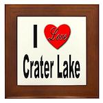 I Love Crater Lake Framed Tile