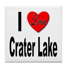 I Love Crater Lake Tile Coaster