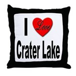 I Love Crater Lake Throw Pillow