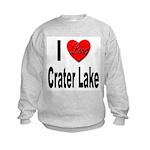 I Love Crater Lake (Front) Kids Sweatshirt